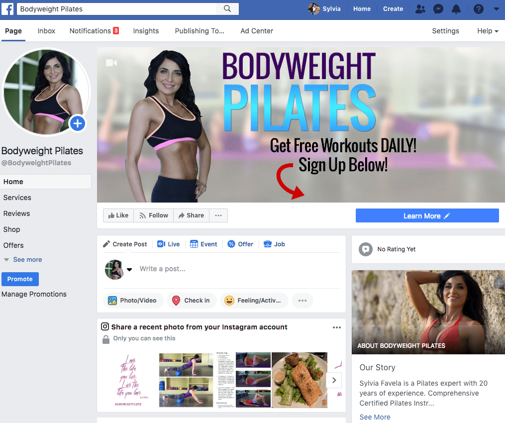 Bodyweight Pilates | Facebook page